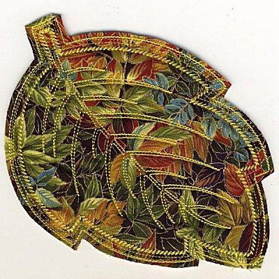 Frayed Leaf Mug Rugs